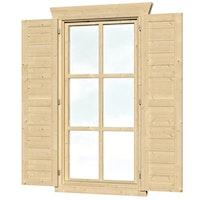Skan Holz Fensterläden für Blockbohlenhäuser Einzelfenster