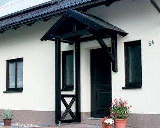 Skan Holz Satteldach Vordach Einzeltür Siegen
