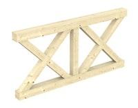 Skan Holz Andreaskreuz-Brüstung für Terrassenüberdachung Leimholz