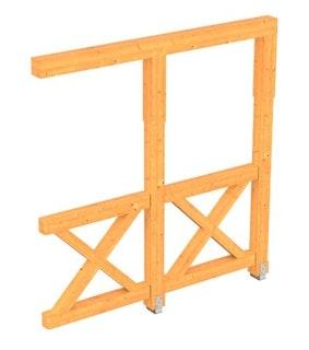 Skan Holz Andreaskreuz-Seitenwand für Terrassenüberdachung Douglasie