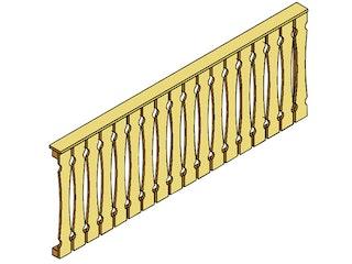 Skan Holz Brüstung Balkonschalung für Terrassenüberdachung Leimholz
