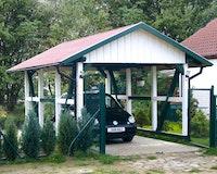 Skan Holz Schwarzwald - Satteldach Einzelcarport Breite 424 cm