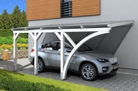 Skan Holz Wandanbau-Carport Eifel mit Einfahrtsbogen 300 x 541 cm