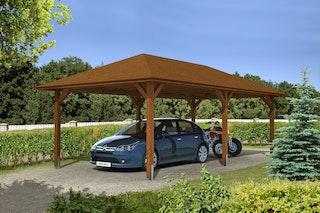 Skan Holz Carport Taunus 439 x 786 cm