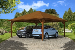 Skan Holz Carport Taunus 634 x 634 cm