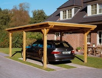 Skan Holz Emsland - Flachdach Carport aus Leimholz Breite 354 cm