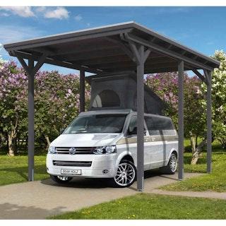 Skan Holz Caravan-Carport Emsland 404x604 cm mit erhöhter Einfahrt