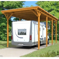 Skan Holz Caravan-Carport Emsland 404x846 cm mit erhöhter Einfahrt