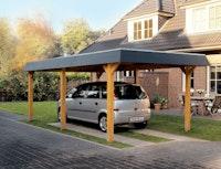 Skan Holz Wendland - Walmdach Carport aus Leimholz Breite 362 cm