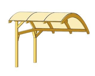 Skan Holz Schwaben Carport-Stellplatzerweiterung aus Leimholz Breite 299cm