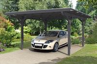 Skan Holz Odenwald - Design Einzel Carport aus Leimholz Breite 428 cm