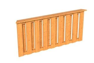 Skan Holz Brüstung Deckelschalung zu Pavillon Lyon