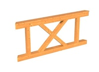 Skan Holz Brüstung Andreaskreuze zu Pavillon Lyon