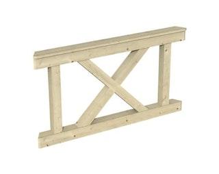 Skan Holz Brüstung Andreaskreuz zu Pavillon Nice