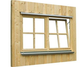 Skan Holz Doppelfenster für Carports