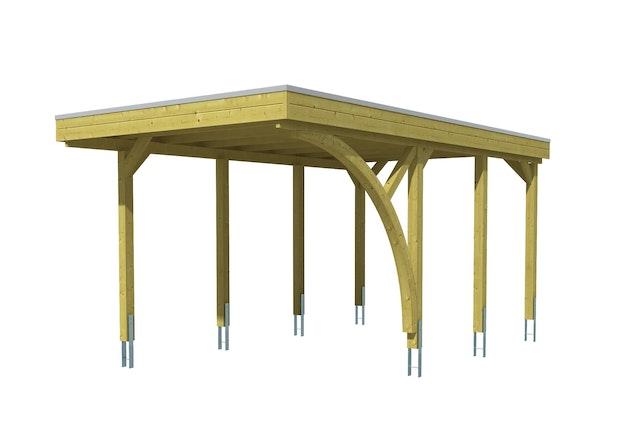Skan Holz Carport Friesland 314x555 Cm Inkl 1 Einfahrtsbogen Sparset 5 Mein Gartenshop24
