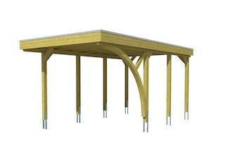 Skan Holz Carport Friesland 314x555 cm inkl. 1 Einfahrtsbogen Sparset 5