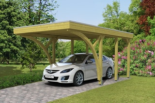 Skan Holz Carport Friesland 314x555 cm inkl. 2 Einfahrtsbögen Sparset 6