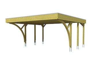 Skan Holz Carport Friesland 557x555 cm inkl. 2 Einfahrtsbögen Sparset 8