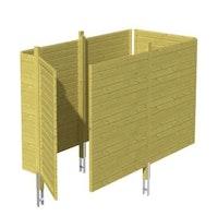 Skan Holz Abstellraum C1 für Carports - Profilschalung