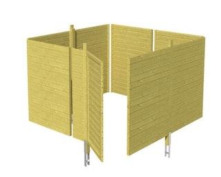 Skan Holz Abstellraum C2 für Carports - Profilschalung