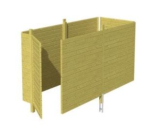 Skan Holz Abstellraum C3 für Carports - Profilschalung