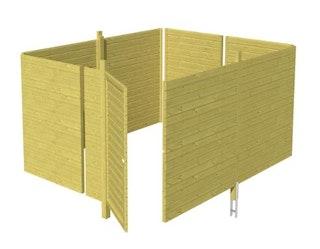 Skan Holz Abstellraum C4 für Carports - Profilschalung