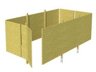 Skan Holz Abstellraum C6 für Carports - Profilschalung