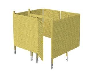 Skan Holz Abstellraum C8 für Carports - Profilschalung