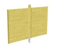 Skan Holz Rückwand für Einzelcarports - Profilschalung