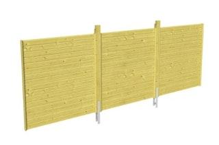 Skan Holz Rückwand für Doppelcarports - Profilschalung
