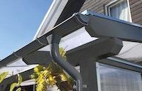 Skan Holz Metall Regenrinnen für Terrassenüberdachungen / Anlehncarports