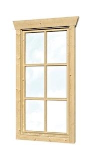 Skan Holz Einzelfenster für 45 mm Gartenhäuser