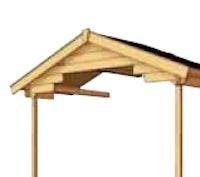 Vordachverlängerung für Skan Holz 28 mm Blockbohlenhäuser Como, Faro, Malaga, Lagos
