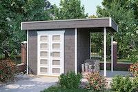 Skan Holz 28 mm Blockbohlenhaus Venlo 2 inkl. gratis Fundamentanker/Pads