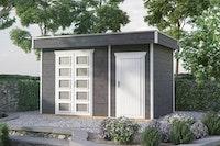 Skan Holz 28 mm Gartenhaus Venlo 3 inkl. gratis Fundamentanker/Pads