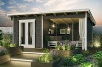 Skan Holz Gartenhaus Texel - 28 mm inkl. gratis Fundamentanker/Pads