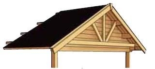 Skan Holz Dachverlängerung auf 212 x 420 cm für Toronto