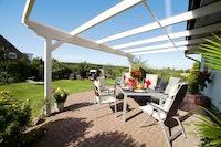 Skan Holz Echtglas-Dacheindeckung für Terrassenüberdachungen (im Austausch mit Polycarbonat)