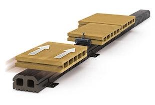 Skanholz WPC Fußboden Montage mit Abstandhalter
