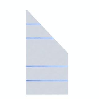 TraumGarten System Glas ALPHA 90x180/90 cm Anschluss rechts - B-Ware