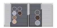 TraumGarten System WPC Platinum Doppeltor auf Maß