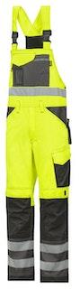 Snickers Workwear 0113 Warnschutz Latzhose, Klasse 2