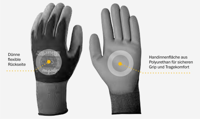 Snickers Workwear 9311 9312 Precision Flex Thin Handschuh