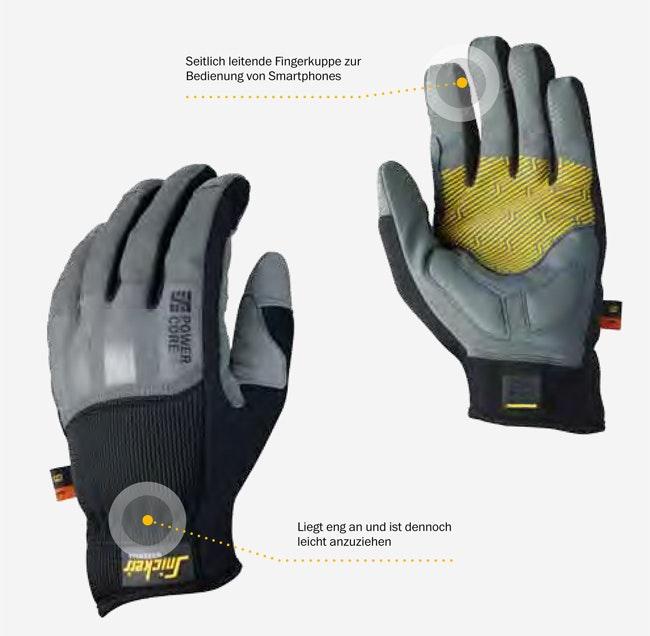 Snickers Workwear 9529 9530 Power Core Handschuh