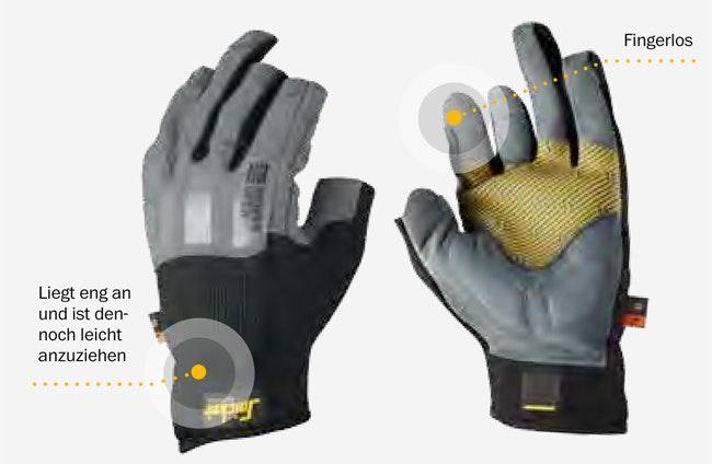 Snickers Workwear 9531 9532 Power Open Handschuh