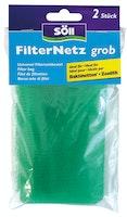 Söll FilterNetz, grob, 2 Stück, grün