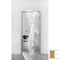 SPRINZ Ganzglasschiebetüre Laserinnengravur Motiv TOULOUSE aus Weißglas