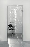 SPRINZ Ganzglasdrehtür Brügge Sondermaß max 1000x2200mm Weißglas