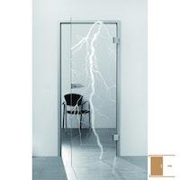 SPRINZ Ganzglasschiebetüre Laserinnengravur Motiv BRÜGGE aus Weißglas